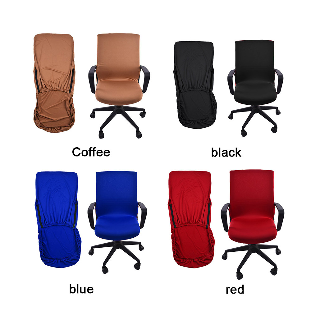 Magnificent Office Chair Cover Swivel Chair Computer Armchair Protector Executive Task Slipcover Internet Bar Back Seat Cover So Sofa Slip Covers Couch Slip Creativecarmelina Interior Chair Design Creativecarmelinacom