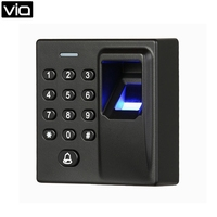F6 Free Shipping ABS Wiegand RFID Card Biometric Fingerprint Reader Access Control System 500 Fingerprint, 500 Card and 500 PIN
