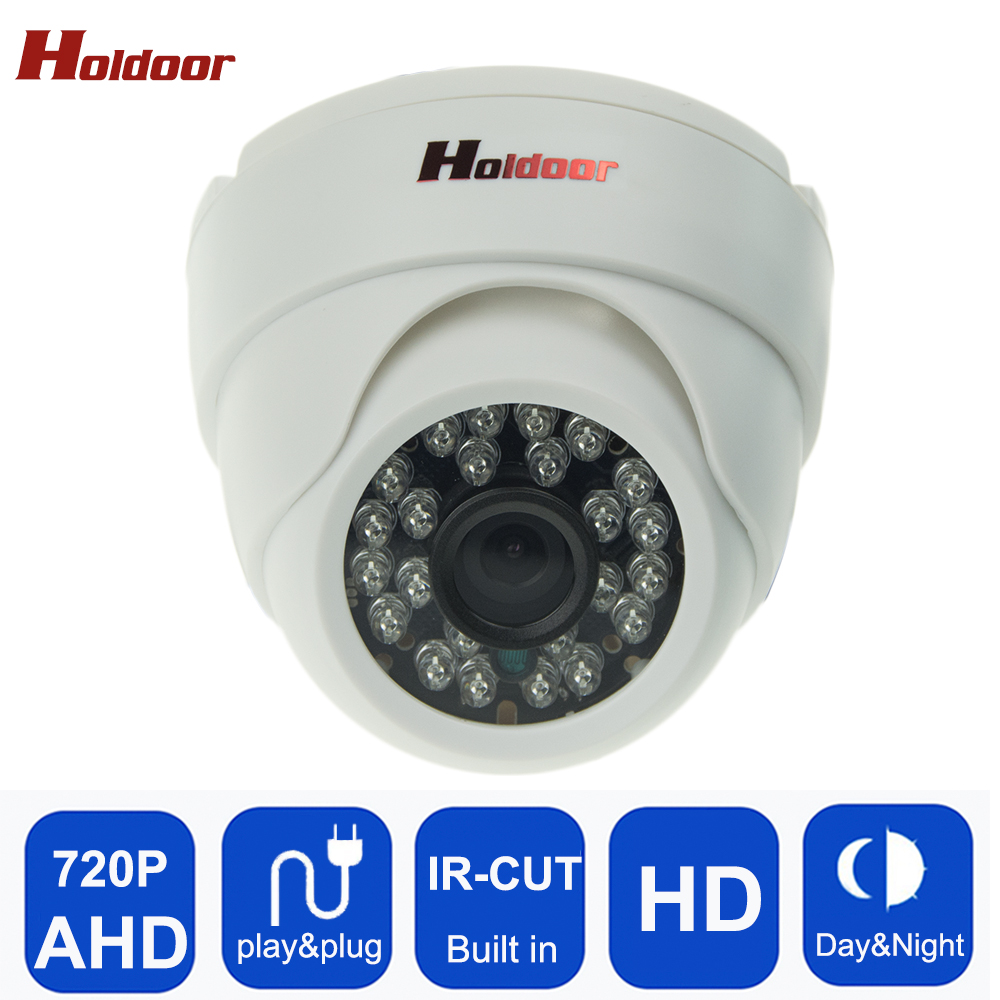 Plastic Shell AHD 720P HD Mini Dome Analog Camera Indoor IR CUT Night Vision Plug and Play Mini Dome security camera for AHD DVR free shipping hot selling 720p 20m ir range plastic ir dome hd ahd camera wholesale and retail