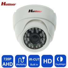 Plastic Shell AHD 720P HD Mini Dome Analog Camera Indoor IR CUT Night Vision Plug and