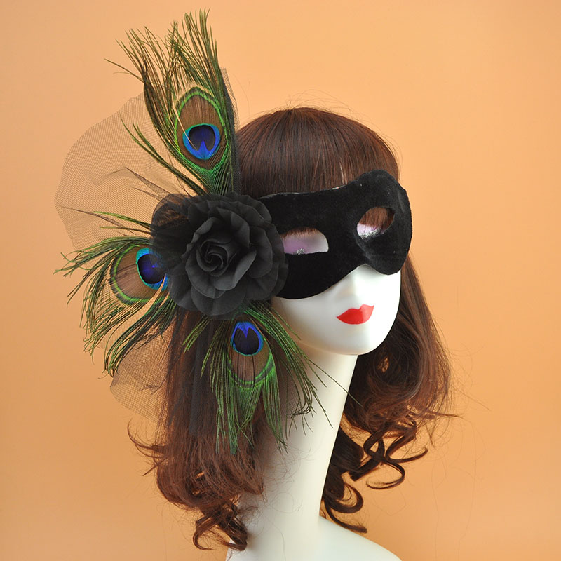 Peacock Feather Mask Halloween Angel Masquerade Mystery Birthday Party Eye