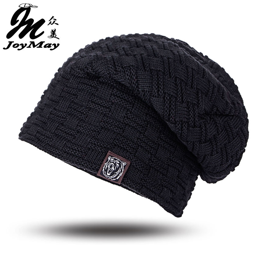 2016 Beanies Knit Men's Winter Hat Caps Skullies Bonnet Winter Hats For Men Women Beanie Fur Warm Baggy Wool Knitted Hat WM052 2016 bonnet beanies knitted winter hat caps skullies winter hats for women men beanie warm baggy cap wool gorros touca hat
