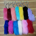 13 Color High Quanlity Tail Design Fake Fox Fur Car Key Ring Bag Chain Personality is Hanged Keychains