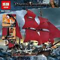 LEPIN 16009 Movie Series Queen Anne's revenge Pirates of the Caribbean Building Block Set figures Compatible with 4195 lepin