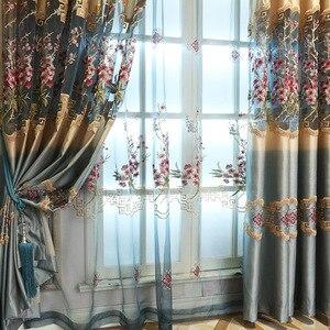 Image 2 - สำหรับผ้าม่านห้องนั่งเล่นผ้าม่านหน้าต่างโมเดิร์นห้องนอน Hollowed   out ใหม่ elegant จีน