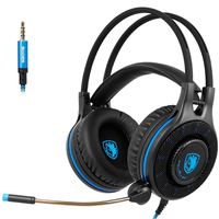 SADES SA936 Gaming Headset PS 4 Headset PC Gaming HeadsetOver Ear Gaming Headphones with Mic LED Light For Xbox one PS4 PC