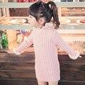 Nueva moda de tejer suéter todo carcasa y tubo de led blanco invierno estilo de la muchacha fotografía eco del bolso suave de largo invierno