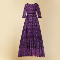 Top Quality Europe And USA 2014 S And S High End Design Long Dress Paillette Bling