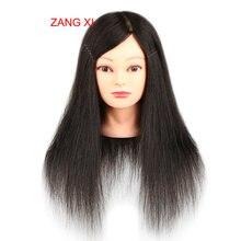 100% naturalne manekiny ludzkich włosów na sprzedaż wysokiej jakości profesjonalna głowa manekina dla Salon kobieta fryzjer głowa manekina
