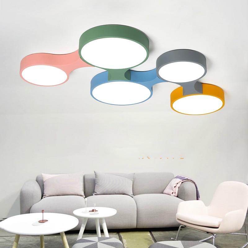Deckenleuchten Kinderzimmer Schlafzimmer Lampe Einfache Moderne Kreative Makaron Kombination Beleuchtung Jungen Decke Beleuchtung Lu8151024 Deckenleuchten & Lüfter