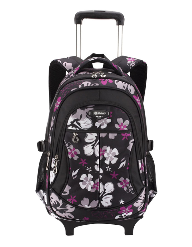 ФОТО Hot Waterproof Boys Trolley School Bag Classic Travel Luggage Suitcase On Wheels Kids Rolling Backpack girl Book Bags Detachable
