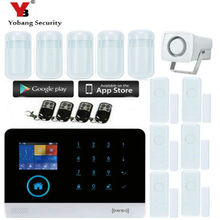 Yobang Security Wifi 3G APP RFID Wirelesss home security gsm alarm system touch keyboard 433MHz door detector