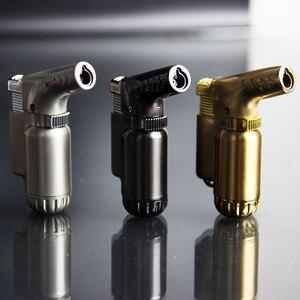 Image 4 - Açık kompakt bütan Jet çakmak meşale yangın rüzgar geçirmez taşınabilir püskürtme tabancası Metal çakmak 1300 C yok gaz