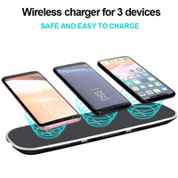 3 In 1 Qi Wireless Charger 5V 2 1A Quick Charge Charging For Samsung Galaxy S7