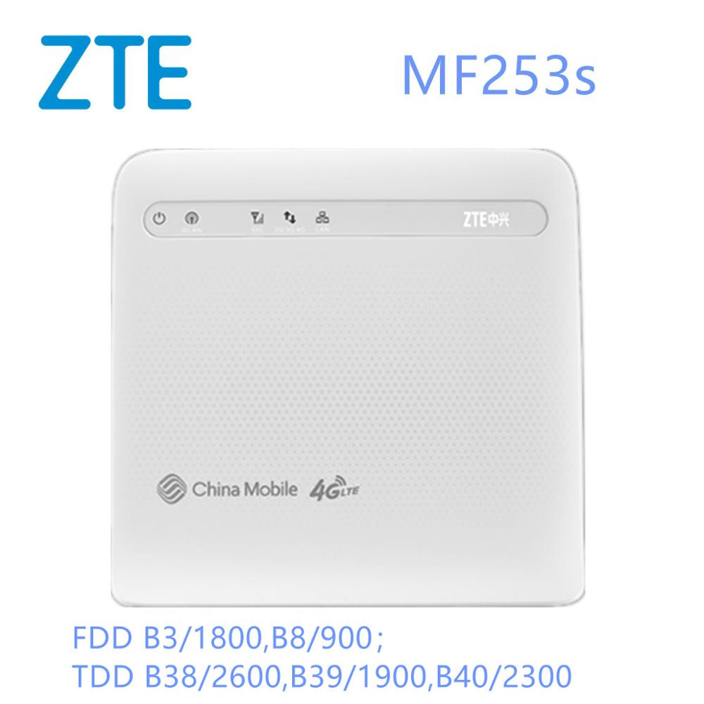 Unlocked 4g ZTE MF253s Cpe Wireless Router Gateway Hotspot Modem+2PCS Antenna Wifi 4g Modem Sim Card