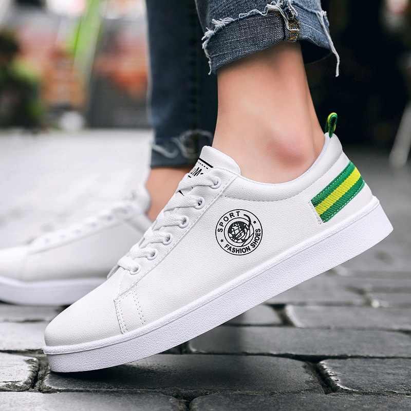 2019 primavera sapatos brancos dos homens sapatos casuais masculinos tênis de rua legal sapatos masculinos marca homem calçado