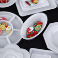 33 unids/set Cocina Muñeca Mini Acrílico Vajilla Plato Taza de Miniaturas Juguetes