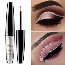 Pudaier olhos maquiagem glitter eyeliner para sombra maquiagem à prova dwaterproof água metal líquido colorido delineador shimmer branco prata cosméticos
