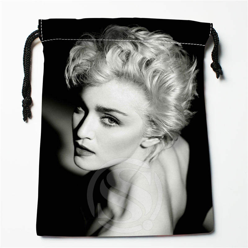 Fl-Q163 New Madonna &3 Custom Printed  Receive Bag  Bag Compression Type Drawstring Bags Size 18X22cm 711-#Fl163