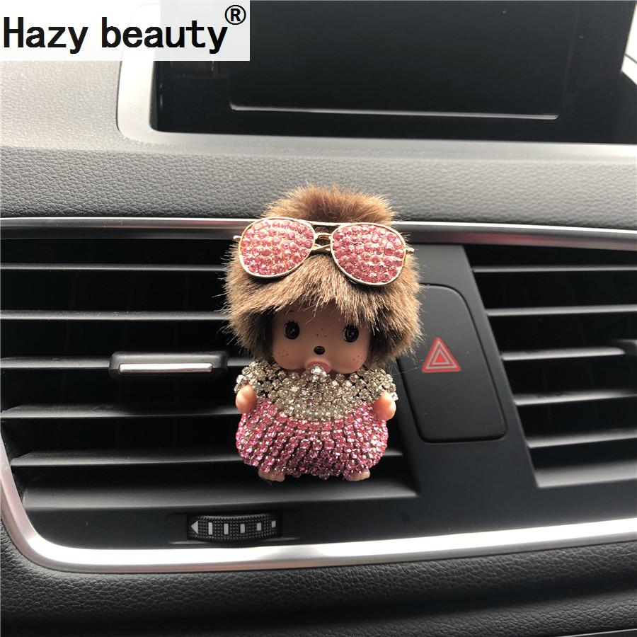 New pattern Crystal diamond Crown eyeglasses Kiki car perfume clip Air Freshener Automobile modeling Car-styling