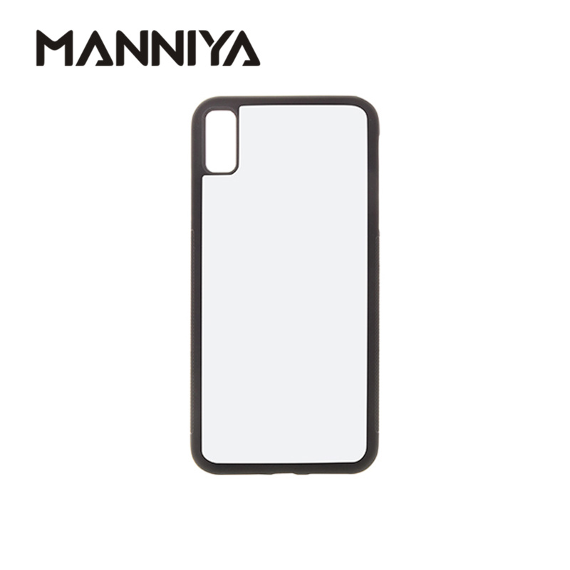 MANNIYA Best Blank 2D Sublimation rubber TPU PC Case for iphone XR with Aluminum Inserts Free