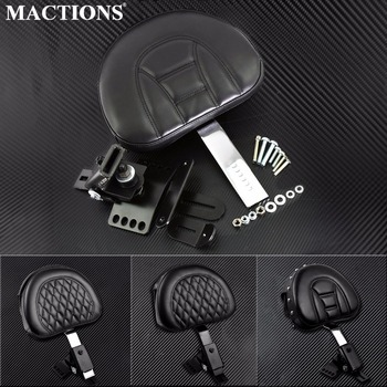 Motorcycle Adjustable New Plug In Driver Rider Seat Backrest Kit For Harley Touring Electra Road Street Glide Road King 97-2020