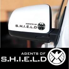 Автомобильные наклейки агенты «агенты SHIELD» и «мстители», наклейки для зеркала заднего вида авто тюнинг укладки Cyter Водонепроницаемый модное платье из 2 шт./компл. D11