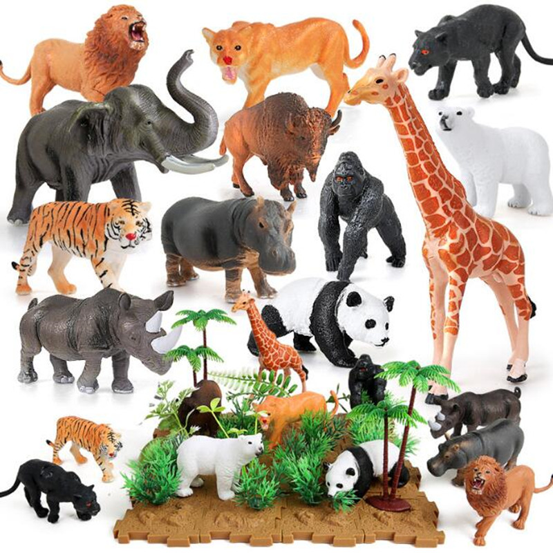 Jungle//Zoo//Farm Animal Model Figure Kid Educational Toy Collectibles Home Decor