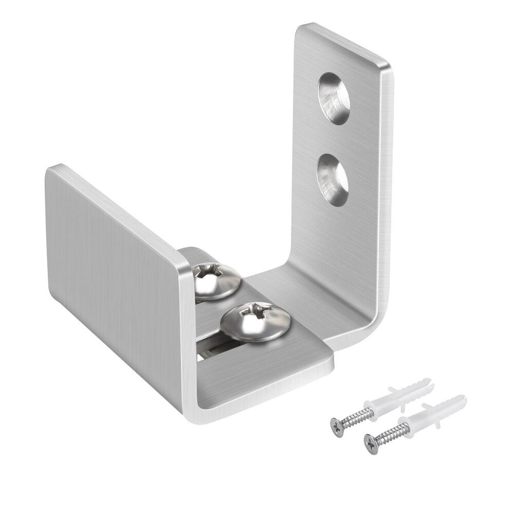 Stainless Steel Sliding Barn Door Hardware Floor Guide Wall Mount Adjustable Anti Jump Door Bottom Guide Screws