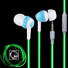 Hot Glow In The Dark font b In Ear b font Earphones Cool Luminous Neon Ear