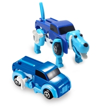 4 colors 14CM cool NO Battary Automatic transform Dog Car Vehicle Clockwork Wind up toy for children kids boy girl toy Gift