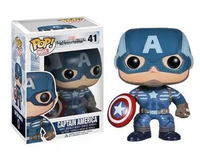 Funko POP Official Vinyl Action Figure Marvel Movie Avengers Captain America #41 Collectible Toy with Original Box  funko pop marvel batman 84 pvc action figure collectible model toy 12cm kt2370