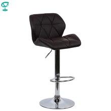 94967 Barneo N-85 эко-кожа кухонный барный стул с мягким сиденьем на газ-лифте цвет темнокоричневый мебель для кухни кресло для нейл бара высокий стул для барной стойки мебель в Казахстан по России