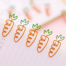 6 шт. креативные кавайные металлические скрепки в форме морковки, закладки, канцелярские товары, школьные офисные принадлежности, украшения 10166