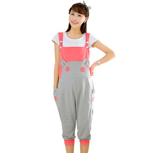 2015 pregnant women selling sweet overalls, Siamese trousers, Spring maternity clothes, Maternity Pants Korean fashion cartoon