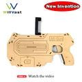 DIY AR Pistola Juego de Realidad Aumentada con el Sostenedor Del Soporte Del Teléfono Celular madera portátil ar ar pistola con 3d juegos para iphone y Android