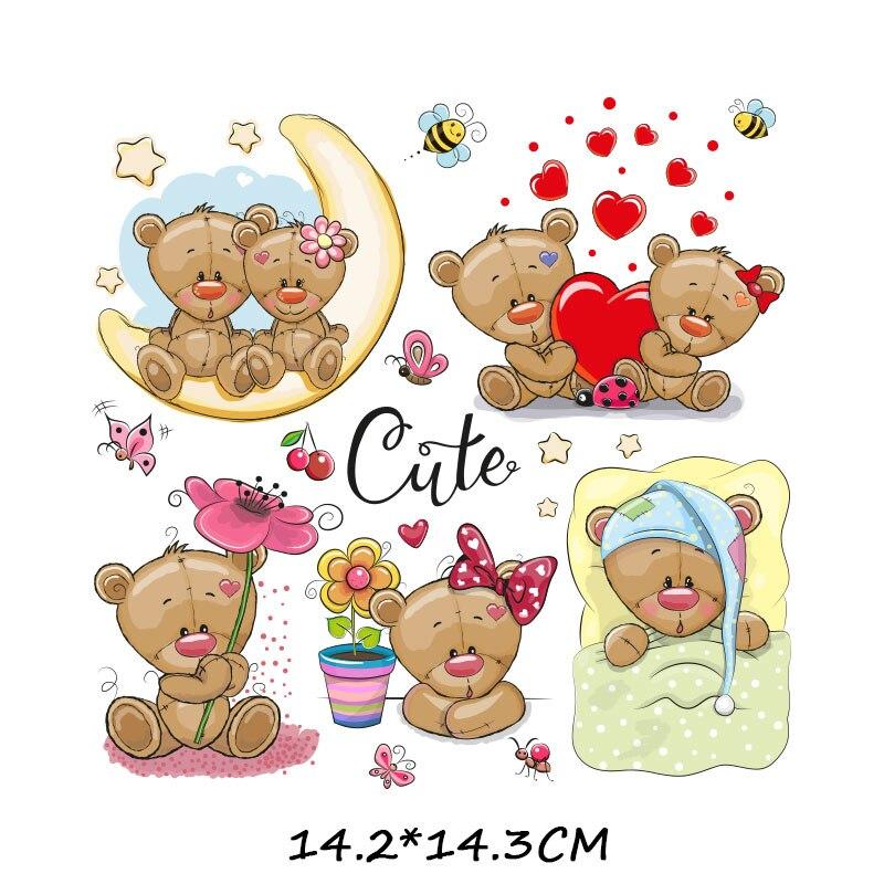 Набор патчей с изображением животных из мультфильмов, милые патчи с изображением единорога, кошки, совы, собаки, цветов для детей, одежда для девочек, футболка, сделай сам, термопресс - Цвет: 925