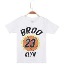 цены на Children Clothing Tees Kids White T Shirt Cotton Boy Tee Top Basketball Printed Short Sleeve O-Neck Boys T-Shirt Brand Tshirts  в интернет-магазинах