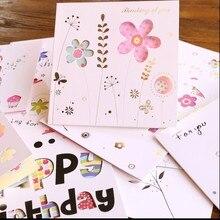 1 лот = 12 шт.! творческий полый поздравительная карточка/Цветы и бабочки на день рождения фестиваль карты/с конвертом