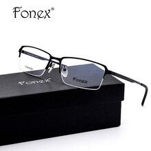 FONEX 2017 High Quality font b Fashion b font Half Glasses Frame font b Women b