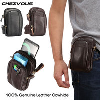 100 Genuine Leather Men S Belt Pouch For Samsung Galaxy S8 PLUS Note 5 4 S4