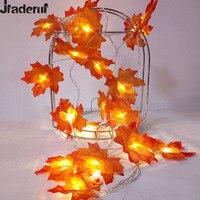 Jiaderui Novità Maple Leaf Garland LED String Fata Luce Di Natale Decor Batteria Nuovo Anno Partito Decor Light Disposizione Dei Fiori