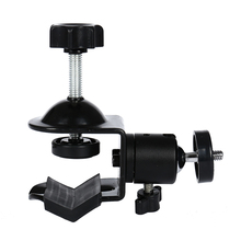 Slow Tripod Clip Clamp Mount Holder for Studio Camera with 360 Swivel Tripod Mini Ball Head Standard 1/4