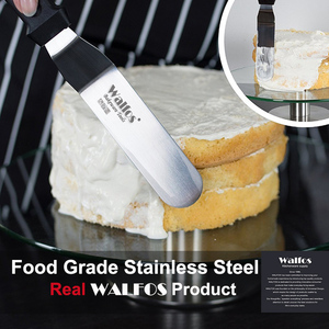 Image 2 - WALFOS Stainless Steel Butter Cake Cream Knife Spatula for Cake Smoother Icing Frosting Spreader Fondant Pastry Cake Decorating