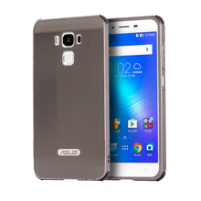 For ASUS ZenFone 3 Max ZC553KL Case Electric Plating Metal Frame and Wire Drawing Effect Acrylic Cases for ZenFone3 Max ZC553KL asus zenfone 3 max zc553kl 32gb silver 4j027ru