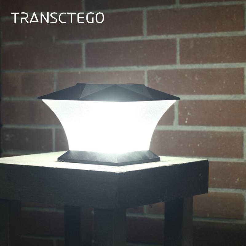 Diodo emissor de Luz Solar Poste Cap Brilhante Ao Ar Livre Movimento Solar Lâmpada de Parede Para Jardim Decoração Lanterna Luzes Do Jardim Villa