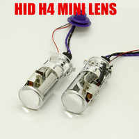 1 pair 55W Lamp H4 Mini Projector Lens H4 hi lo beam bixenon Automobles Bulb