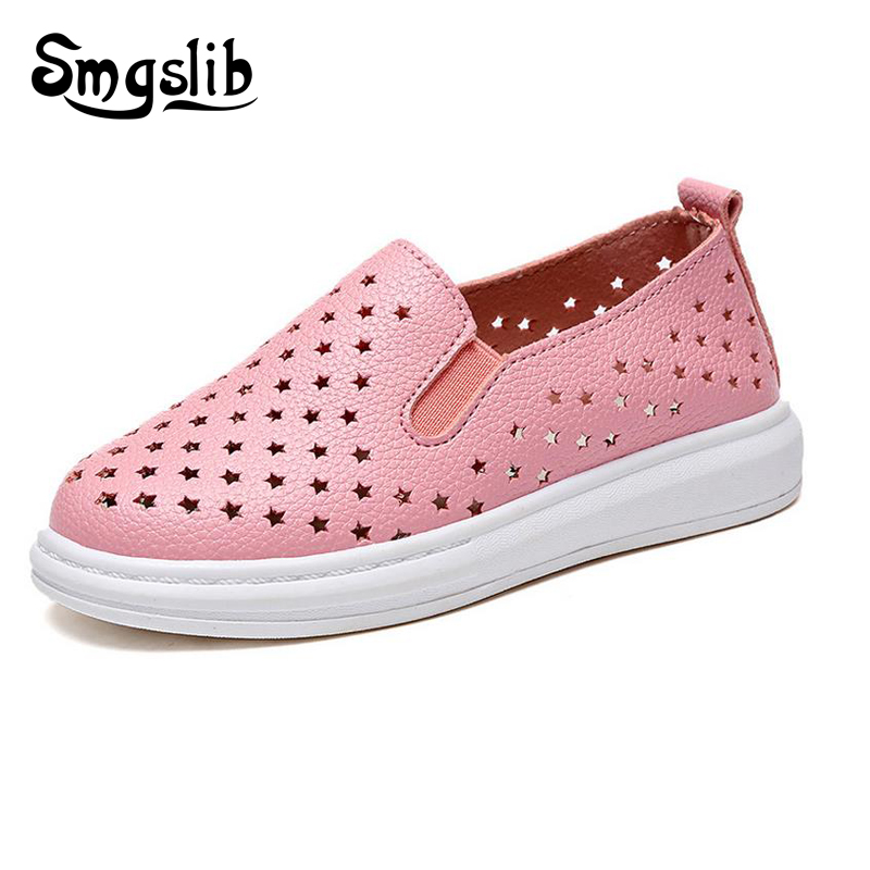 Kids shoes 2016 spring girls leather shoes princess Hollow out Flats children shoes girls sneakers for toddler girls trainers