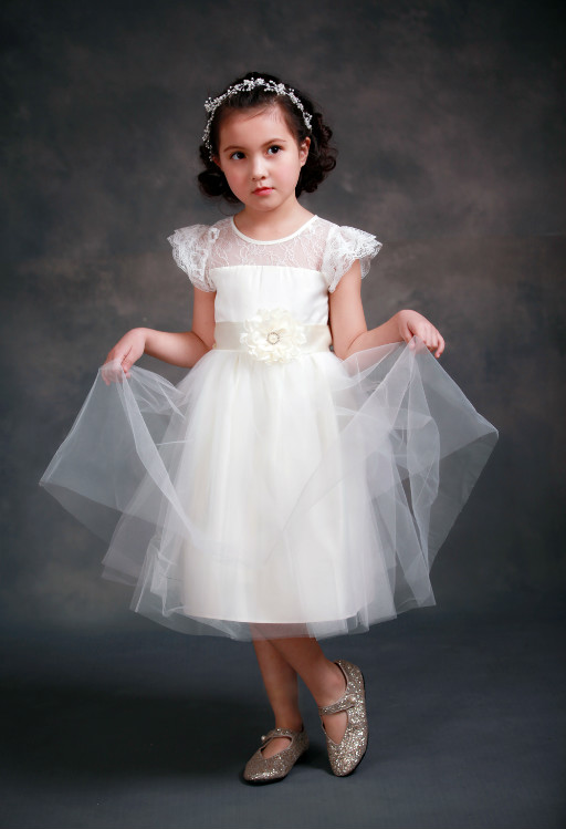 Tulle Flower Girls Dresses For Wedding Gown Lace Girl Birthday Party Dress A-Line vestidos de comunion Mother Daughter Dresses white and ivory lace flower girls dresses for wedding a line spring pretty mother daughter dress tulle pageant dresses for girls