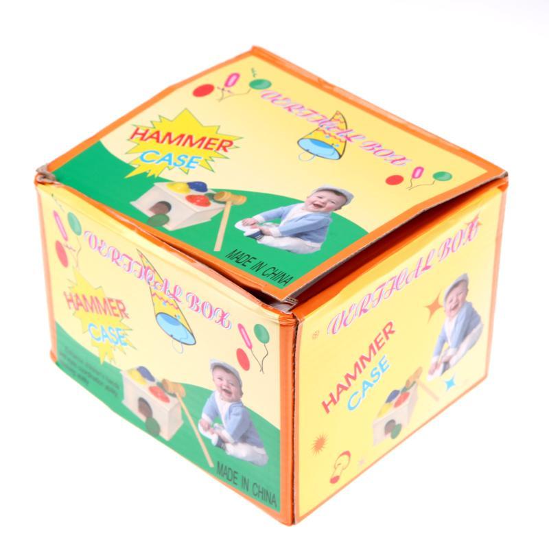Деревянный молоток мяч ящик с молотком дети Монтессори Ранние развивающие игрушки Дети Забавный играющий хомяк игра дети игрушки подарок